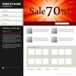 Web site design template — Stock Vector #4239033