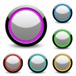 Glossy buttons. — Stock Vector
