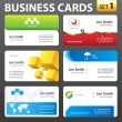 Vector de stock : Business card set.