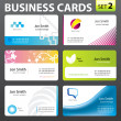 Royalty-Free Stock Vector Image: Business card set.