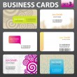 Business card set. — Vettoriali Stock