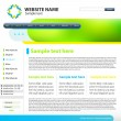 Web site design template — Stock Vector