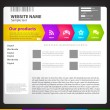 Royalty-Free Stock Imagem Vetorial: Web site design template