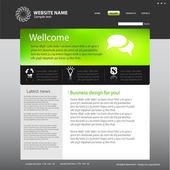 Web site design template — Stock Vector