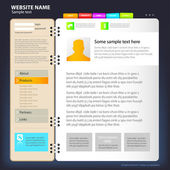 Web site design template — Stockvector