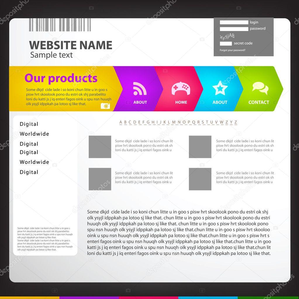 web site page: