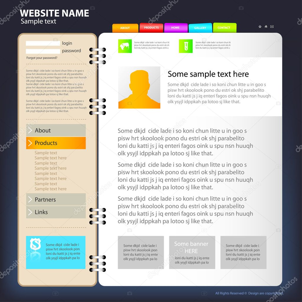 One page web design template