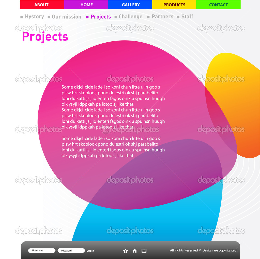 web site design template stock vector copy tumanyan  website title page design template vector by tumanyan