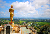 Walking buddha at north of thailand — Stock Photo