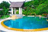 Resort and swimming pool — Foto de Stock