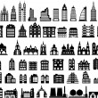 Vector houses — Stockvektor