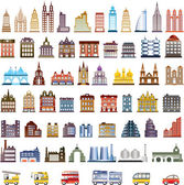 Vector houses — Stock Vector