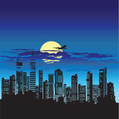 Silhouette of city — Stock Vector
