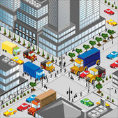 Crossing of city — Vector de stock