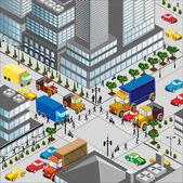 Crossing of city — Stock Vector