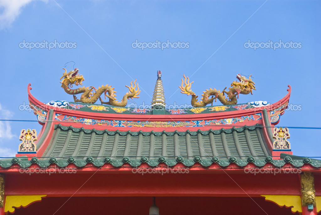 Chinese Temple Vector Chinese Temple Roof With