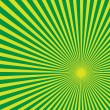 Royalty-Free Stock Vector Image: Green Sun Light