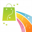 Shopping background - Stock vektor