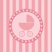 赤ちゃんの到着の背景 — ストックベクタ