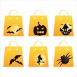 Stock Vector: Halloween shopping bags