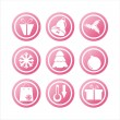 Royalty-Free Stock Vector Image: Pink christmas signs