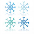 Shiny snowflakes — Stock Vector