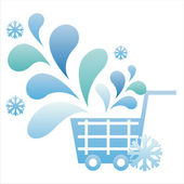 Winter basket — Stock Vector