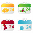 Royalty-Free Stock Vector Image: Christmas calendar icons