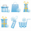 Royalty-Free Stock Vector Image: Winter shopping icons