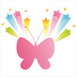 Royalty-Free Stock Vector Image: Butterfly with splash