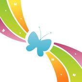 Butterfly bakgrund — Stockvektor