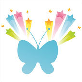 Farfalla con splash — Vettoriale Stock