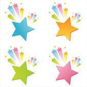 étoiles avec éclaboussures — Vecteur