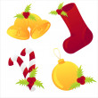 Royalty-Free Stock Vector Image: Glossy christmas icons