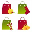 Royalty-Free Stock Vector Image: Christmas shopping bags