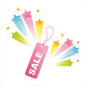 Sale tag with star splash — Stock Vector