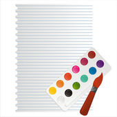 Brush and colors — Stock Vector