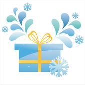 Winter gift with splash — Stock Vector