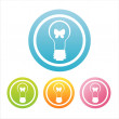 Colorful eco lamps signs — Vector de stock #4036970