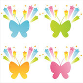 Butterflies with splashes — Stock Vector