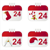 Christmas calendar icons — Stock Vector