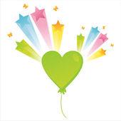 Balloon with splash — Stock Vector