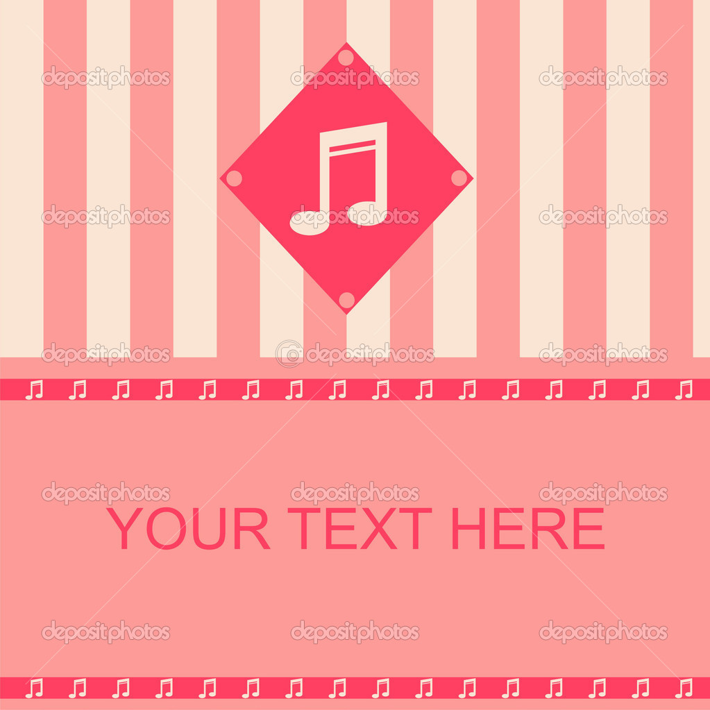 Cute musical frame — Stock Vector #4069071