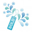 Royalty-Free Stock Vector Image: Winter sale tag
