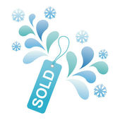 Marca de venda de inverno — Vetorial Stock