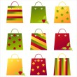 Christmas shopping bags — Stock Vector