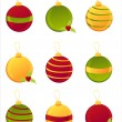 Glossy christmas balls — Stock Vector