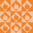 Royalty-Free Stock Vector Image: Apple pattern