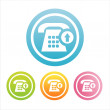 Colorful phone signs - Stock Vector