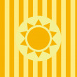 Sun background — Stock Vector